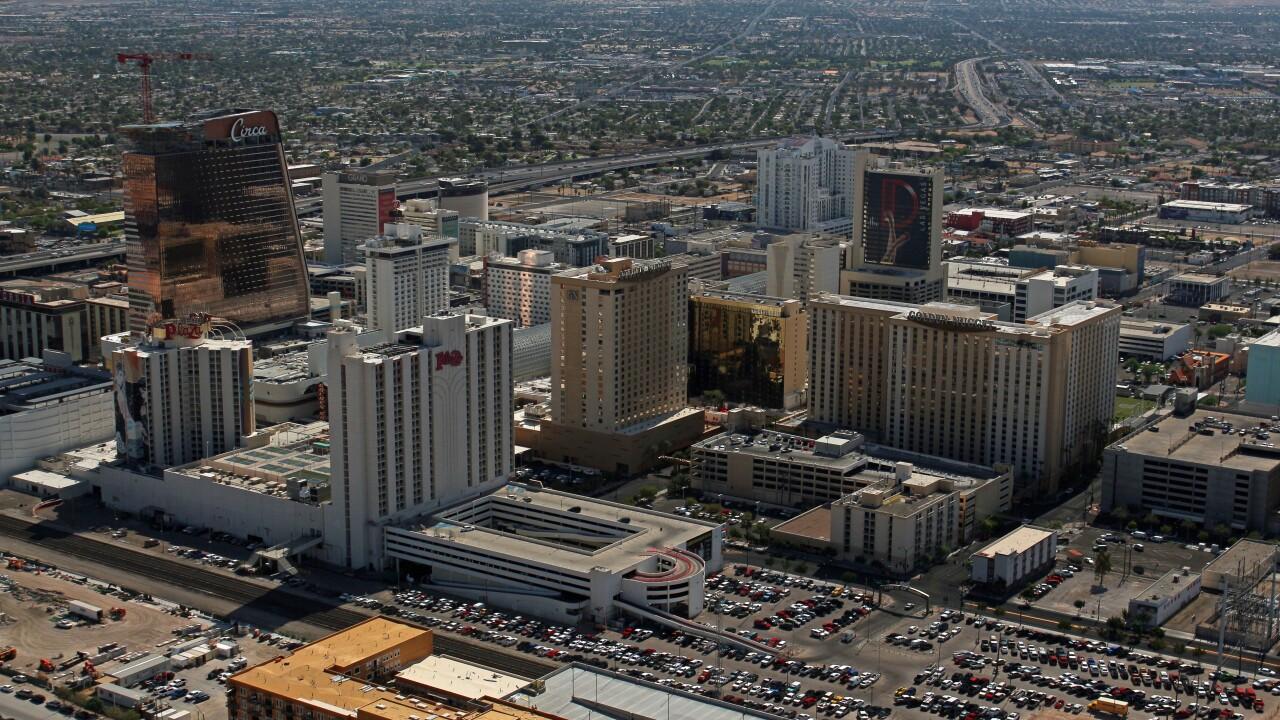 Downtown Las Vegas wide shot