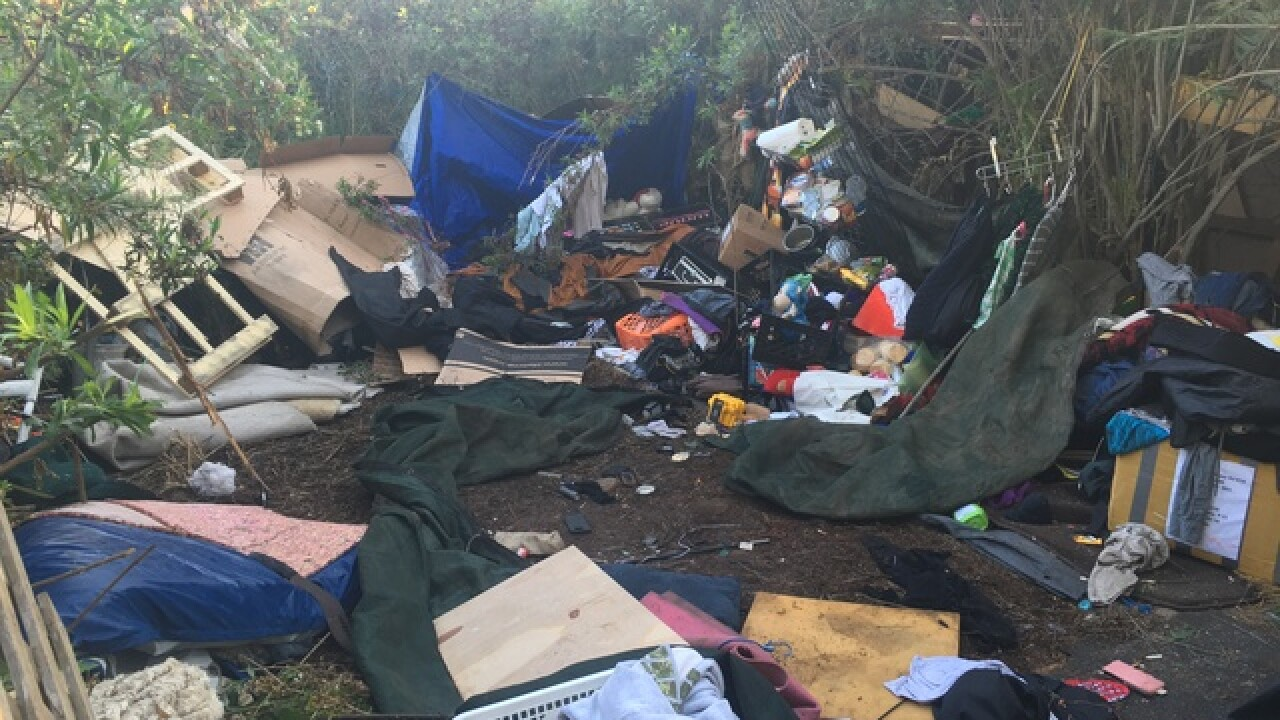 San Diego leaders to clear homeless camp