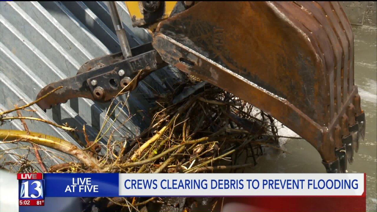 Crews clearing debris 24/7 as heavy snowmelt causes floodingconcerns