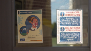 COVID-19 signage at schools