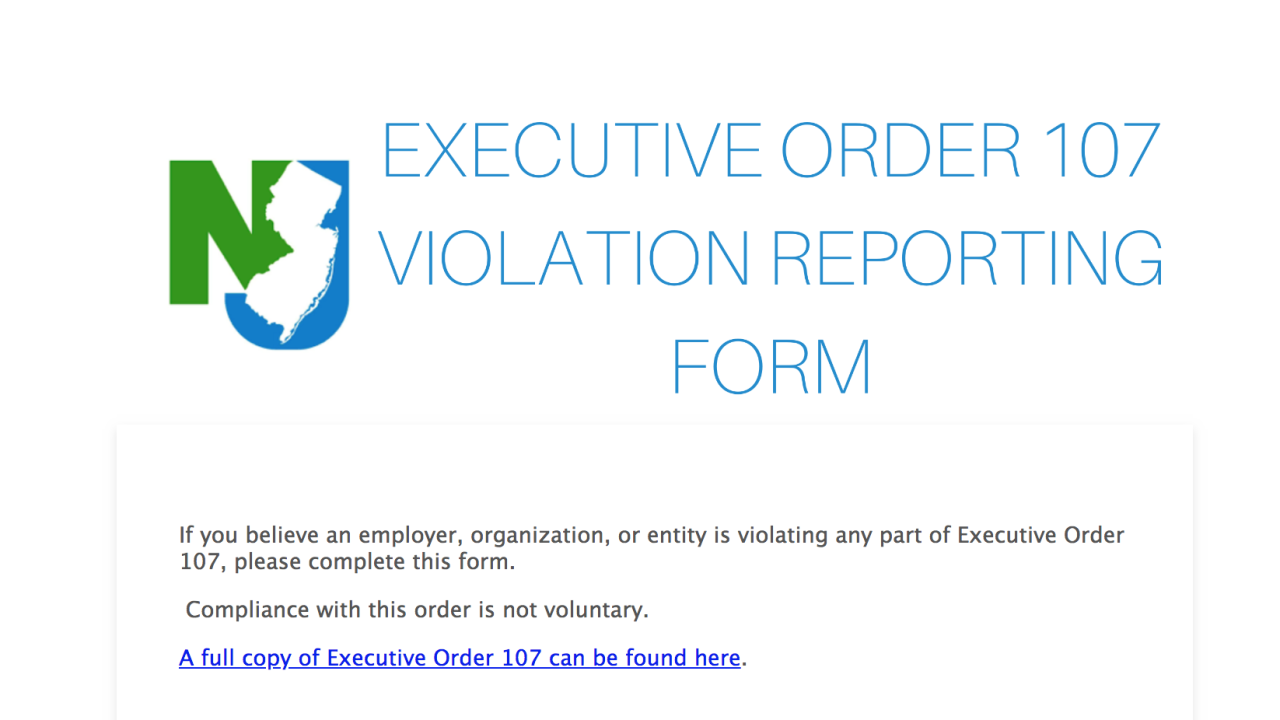 Violation reporting form