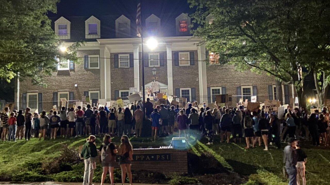 KU Fraternity protest