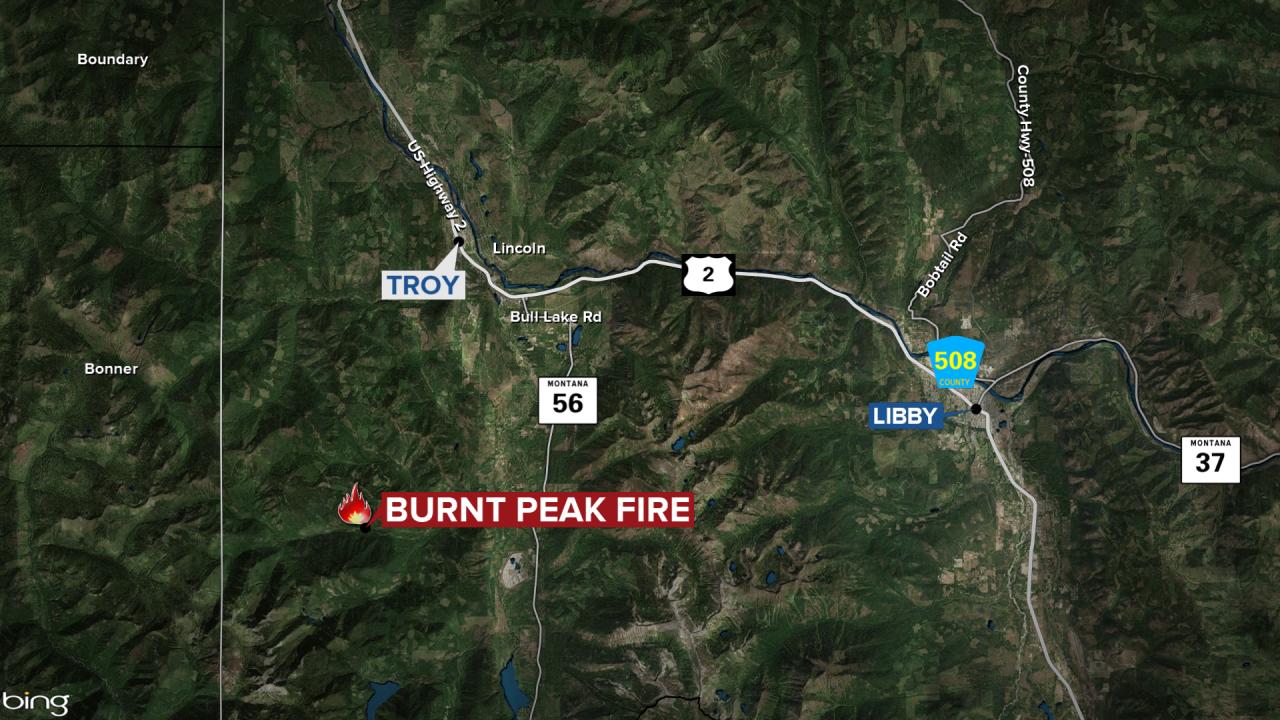Burnt Peak Fire Map