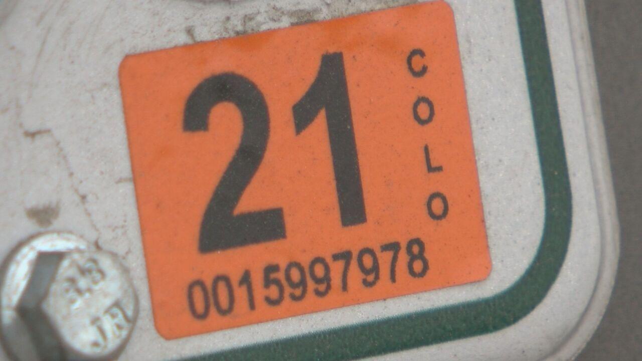 Colorado vehicle registration tag