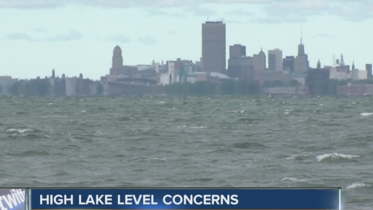 Lake levels could cause more problems with waves