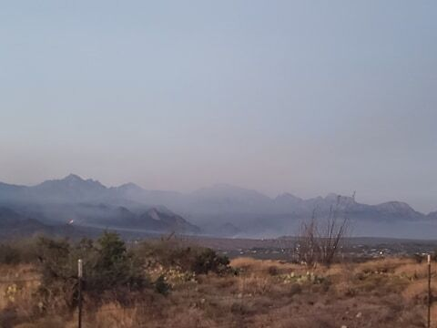 Views of the Bighorn Fire from the Saddlebrooke area