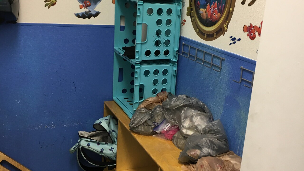 Photos are provided by the Southern Nevada Health District during a recent inspection at Tip Top Child Development Center in Las Vegas