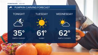 Perfect Fall pumpkin carving forecast