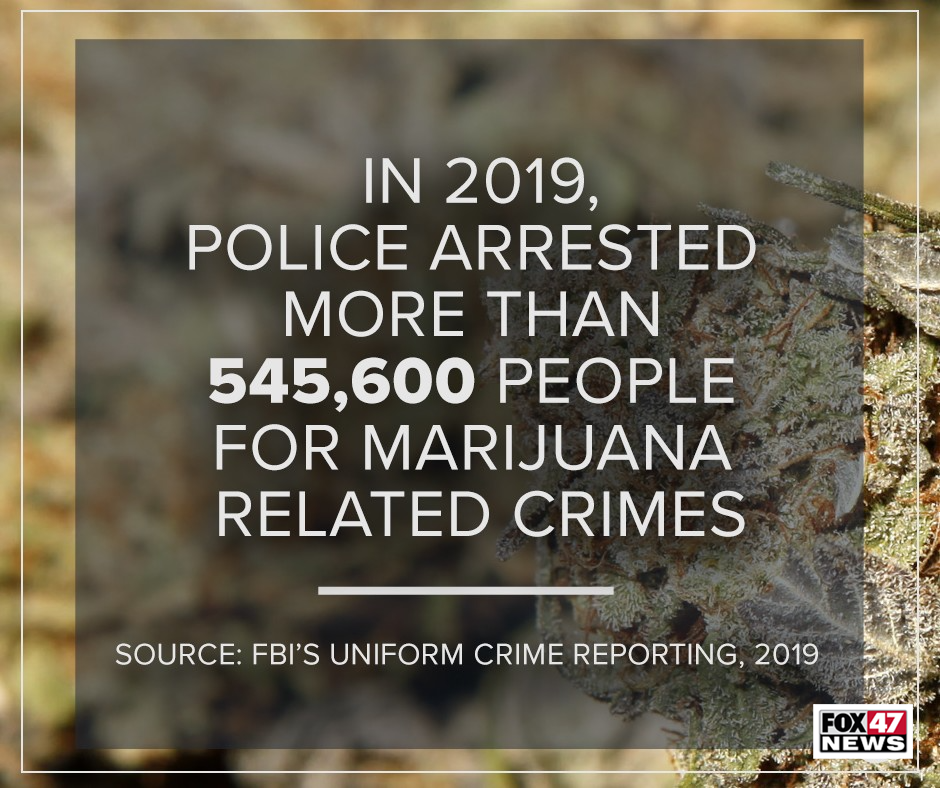 In 2019, Police arrested more than 545,600 people for marijuana related crimes