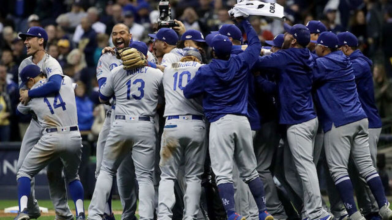 LA Dodgers down Milwaukee Brewers; Dodgers head to World Series