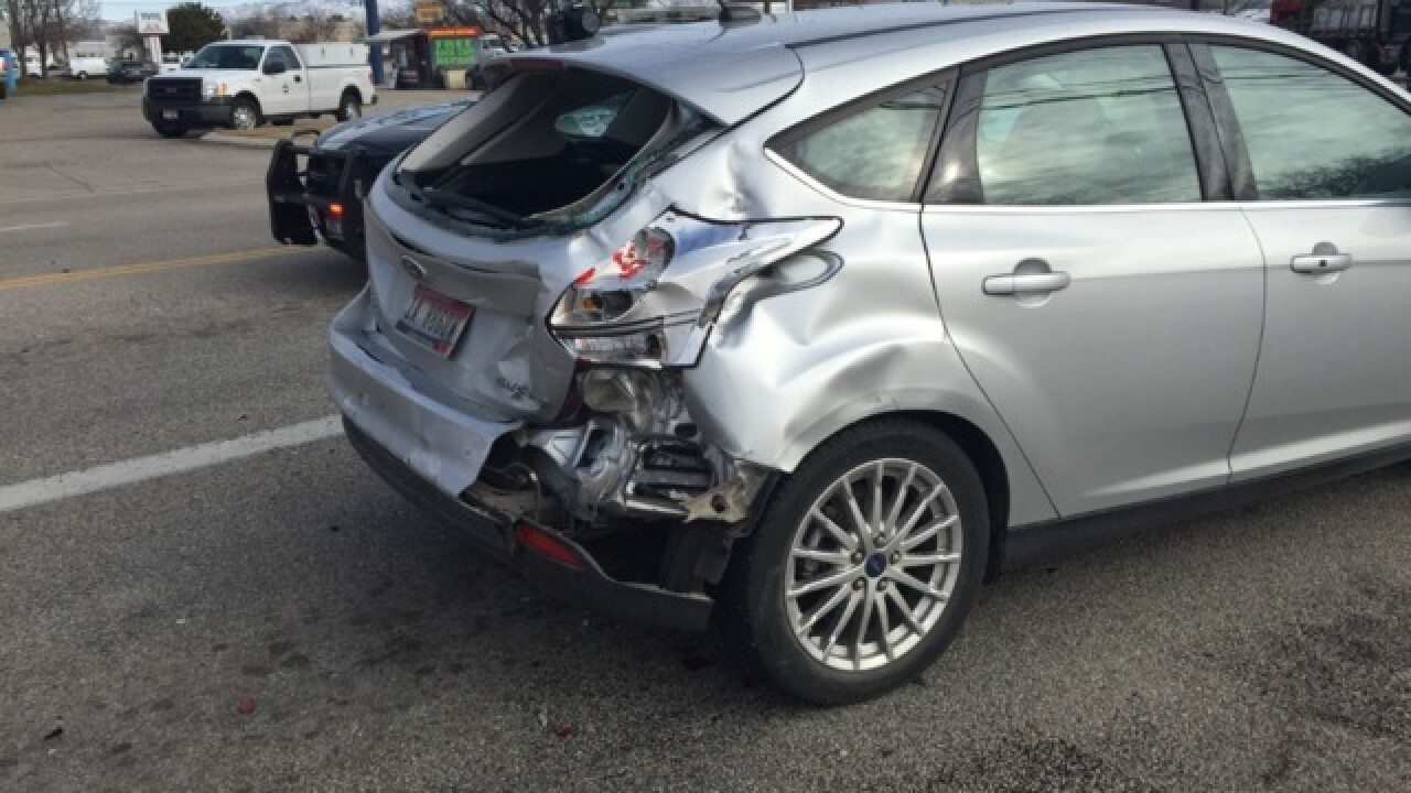 One man injured in 7-vehicle Boise accident