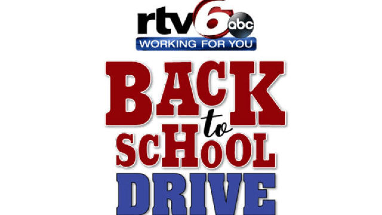 RTV6 to host back to school supply drive