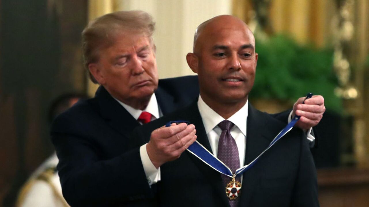 Yankees legend Mariano Rivera receives Medal of Freedom