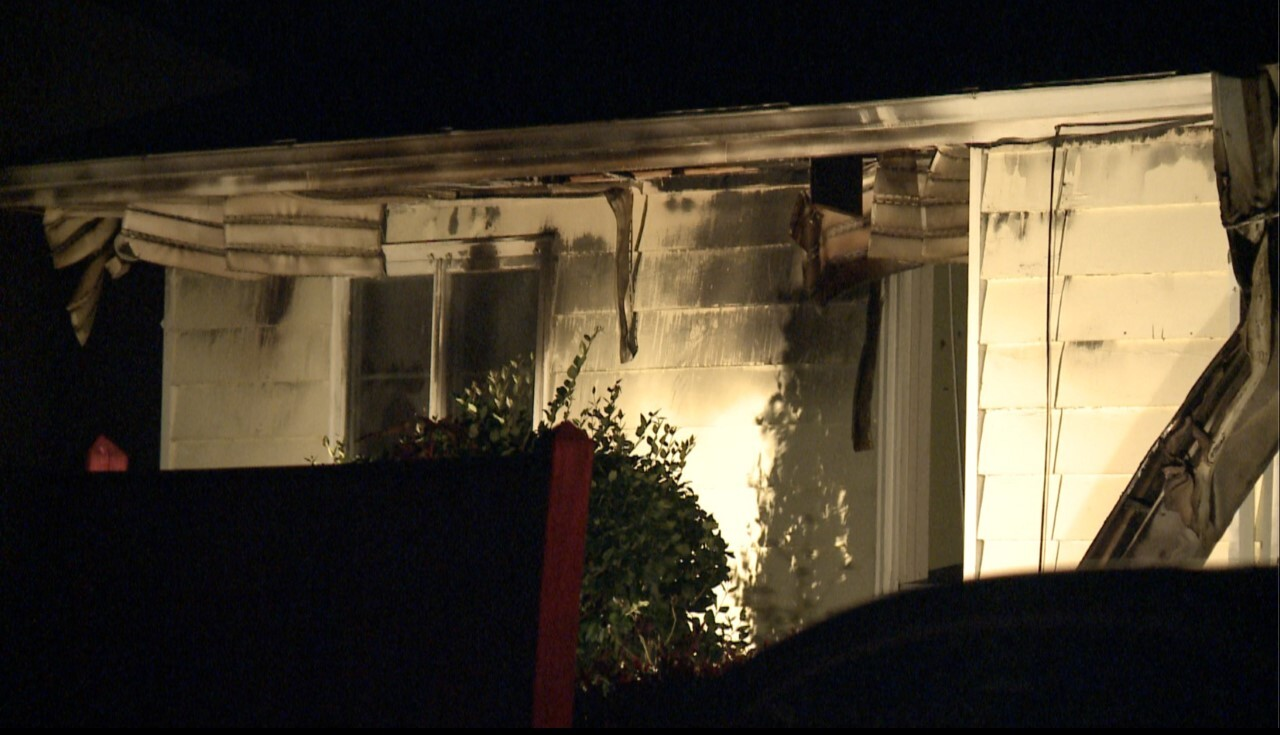 Photos: Mother and son displaced after house fire in Hampton