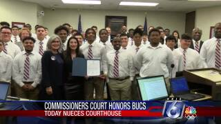 Miller football team honored by Nueces County commissioners court
