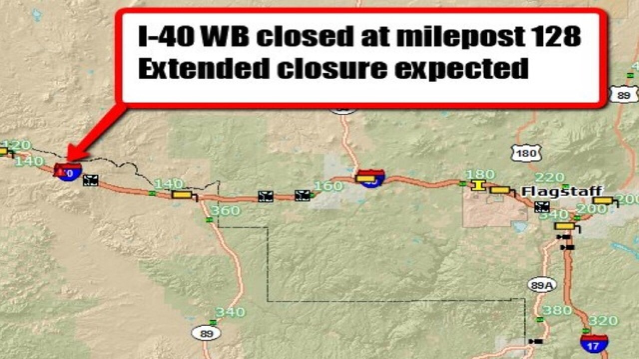 Two dead, 6 hurt after I-40 crash in N. AZ on route 66 us map, i 40 arizona map, i-35 map, i-40 highway, us highway 80 map, i-40 new mexico, i-40 oklahoma, i-40 rock slide, i-40 interstate conditions, i-40 bridge collapse, u.s. route 40 map, i-40 crash, i-40 california, i 40 arkansas map, i-40 sign, i 40 tn map, i-40 in tennessee, highway 40 colorado map, i-40 exit guide, i 30 map,