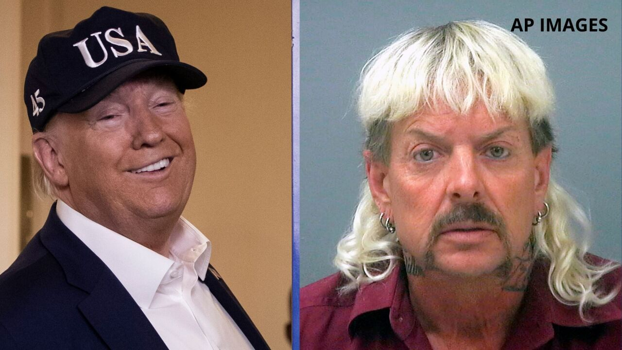 Pardon 'Joe Exotic'? President Trump playfully says he'll 'take a look'