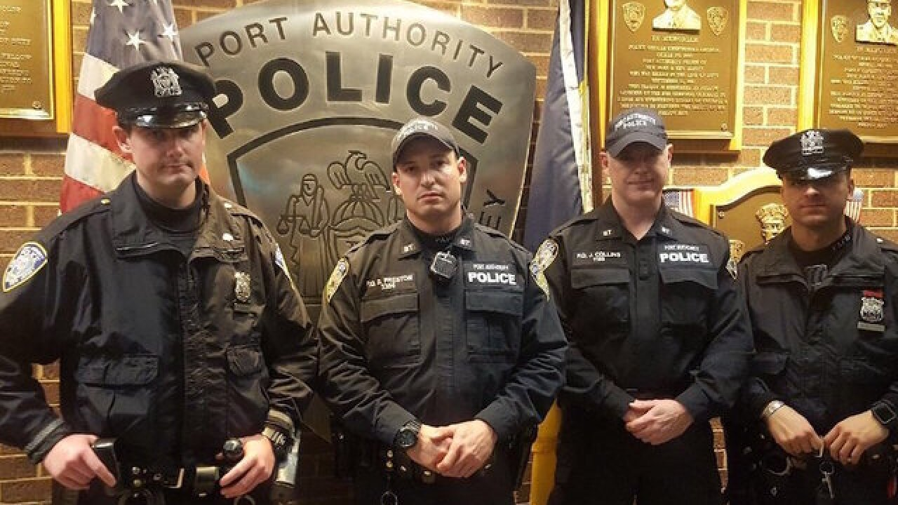 These officers stopped the New York pipe bomb suspect