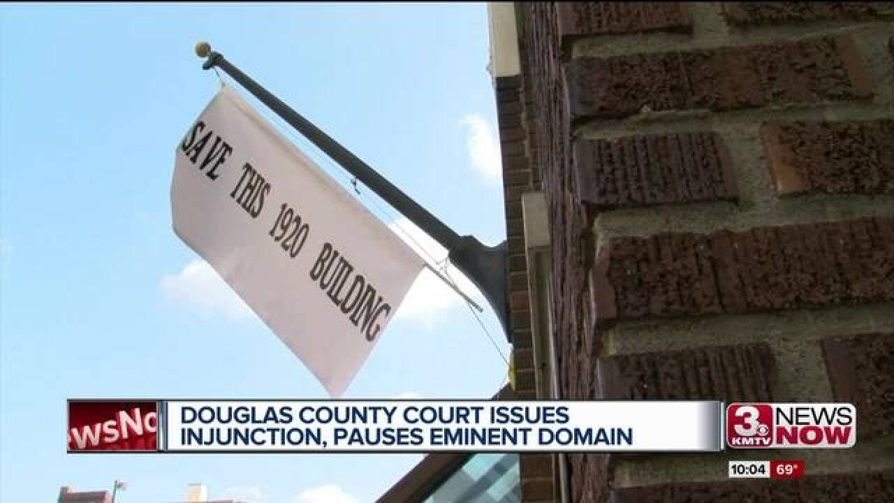 Eminent domain for justice center paused