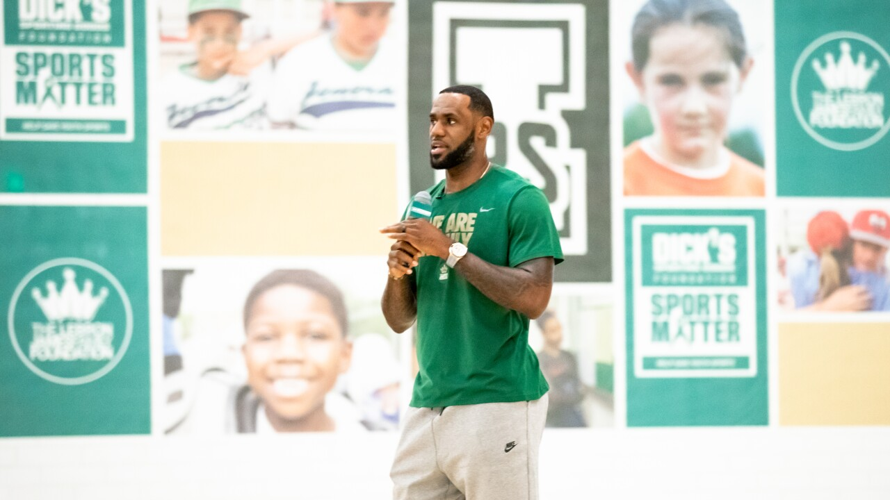 LeBron James surprises students at his 'I Promise School' with $1 million for new gym