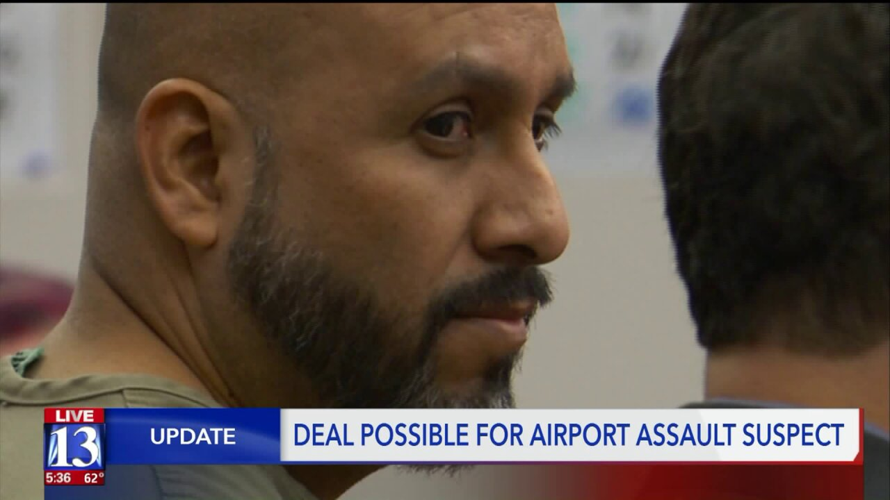 Plea deal possible for man accused of slipping past airport security, assaulting man