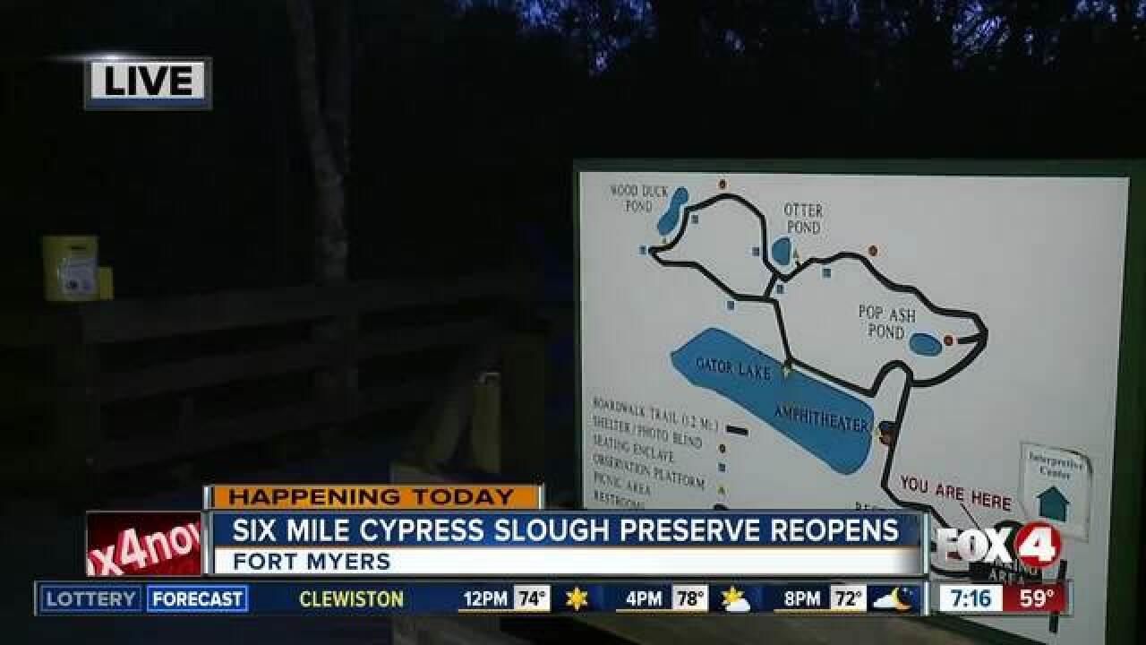 Six Mile Cypress Slough Preserve opens post Irma