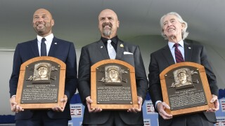 APTOPIX Hall Of Fame Inductions Baseball