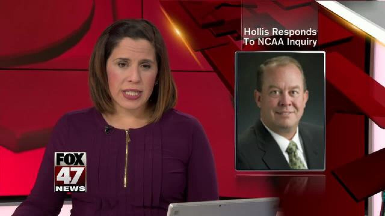 MSU AD Mark Hollis responds to NCAA inquiry