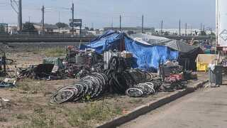 Homeless Encampment or Bike Chop Shop?