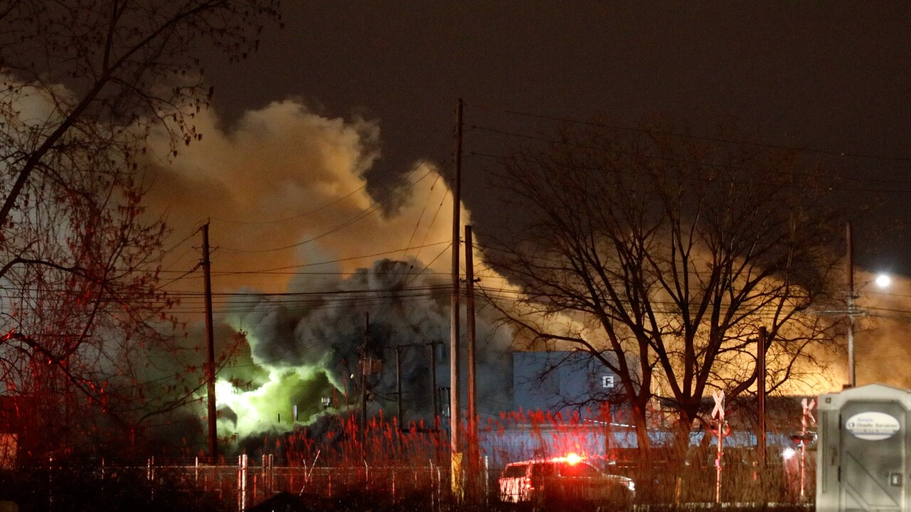 Cleveland Fire responded to a chemical fire at Chemical Solvents Inc.