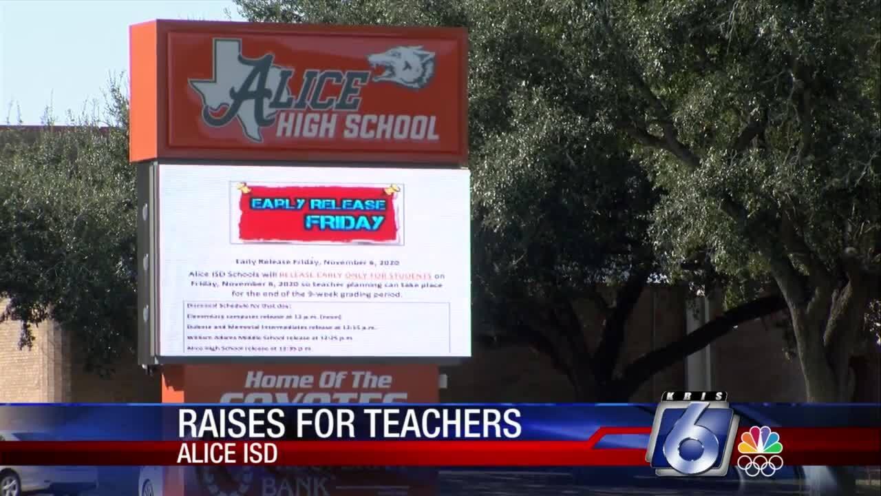 Alice ISD teachers are getting a raise