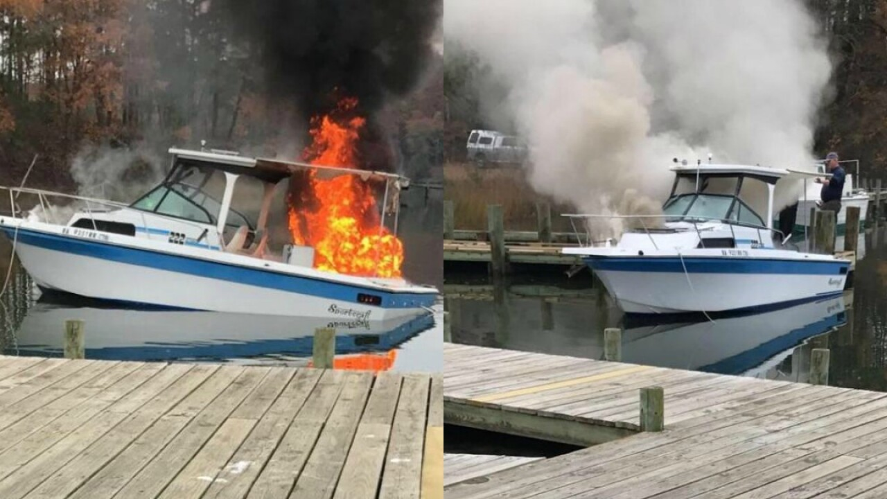 1 hospitalized after boat catches fire on RappahannockRiver