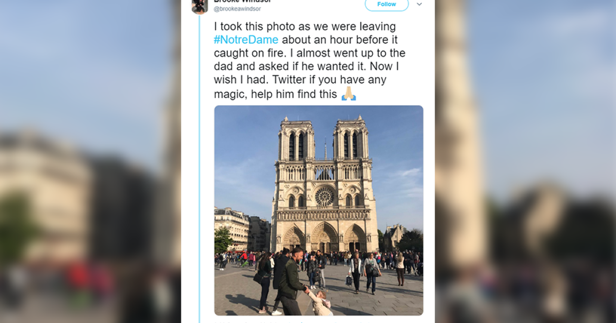 The World Searches For Dad And Daughter In Viral Notre Dame