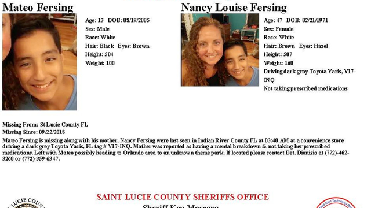 St. Lucie County mother and son not in danger, sheriff's office says