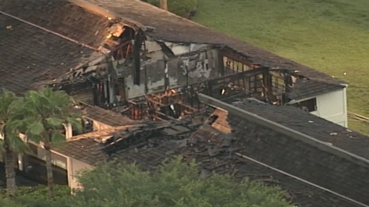 Firefighters battle fire at Saddlebrook Resort