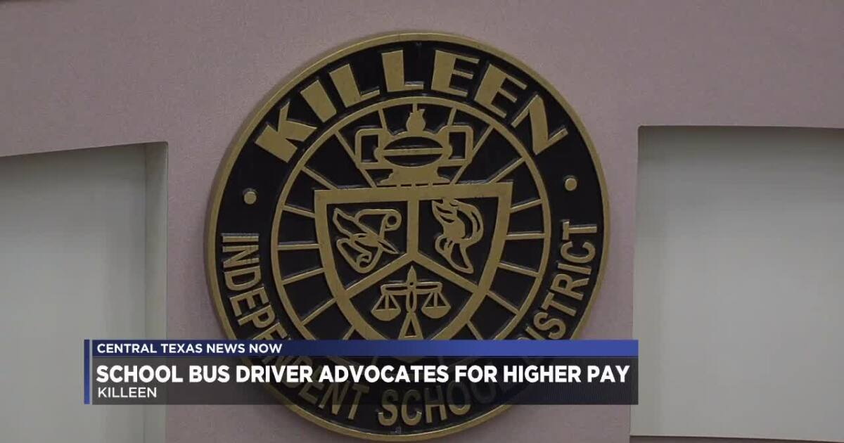 Killeen ISD school bus driver advocates for higher pay