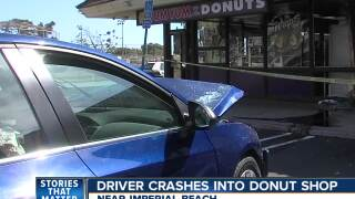 Car crashes into donut shop in South Bay