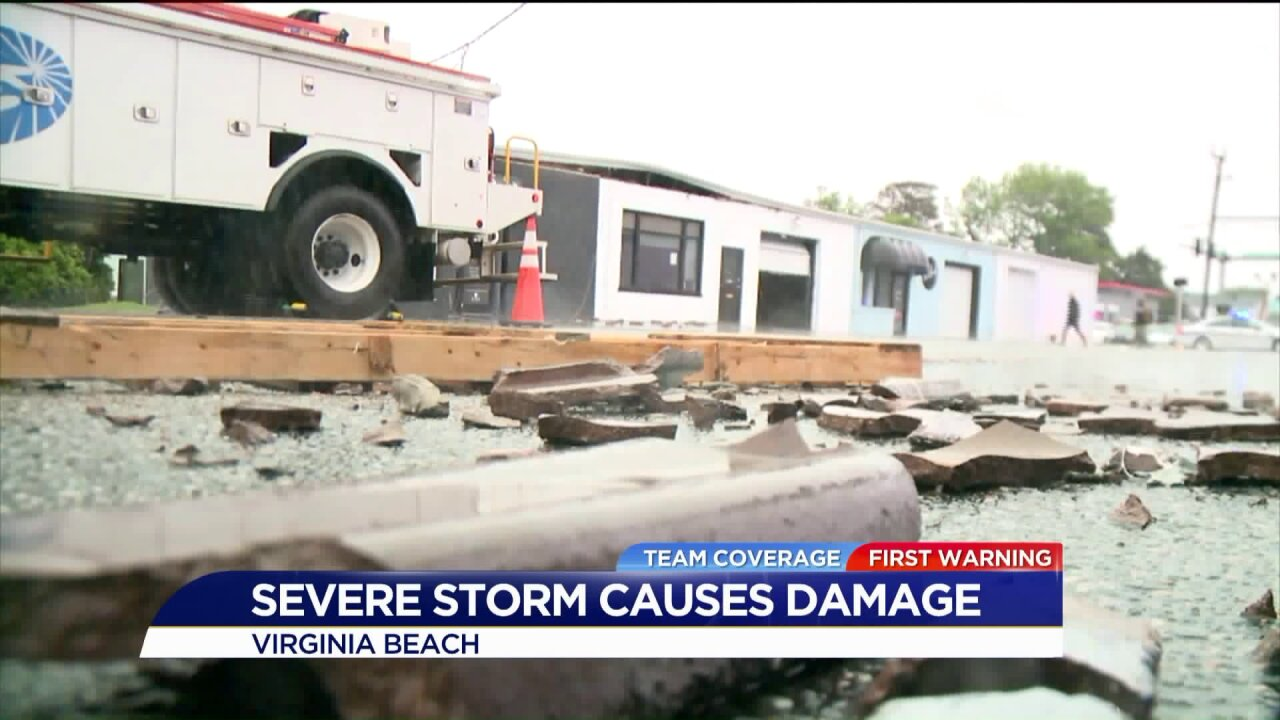 Damage reported at Virginia Beach Oceanfront after Friday morningstorms