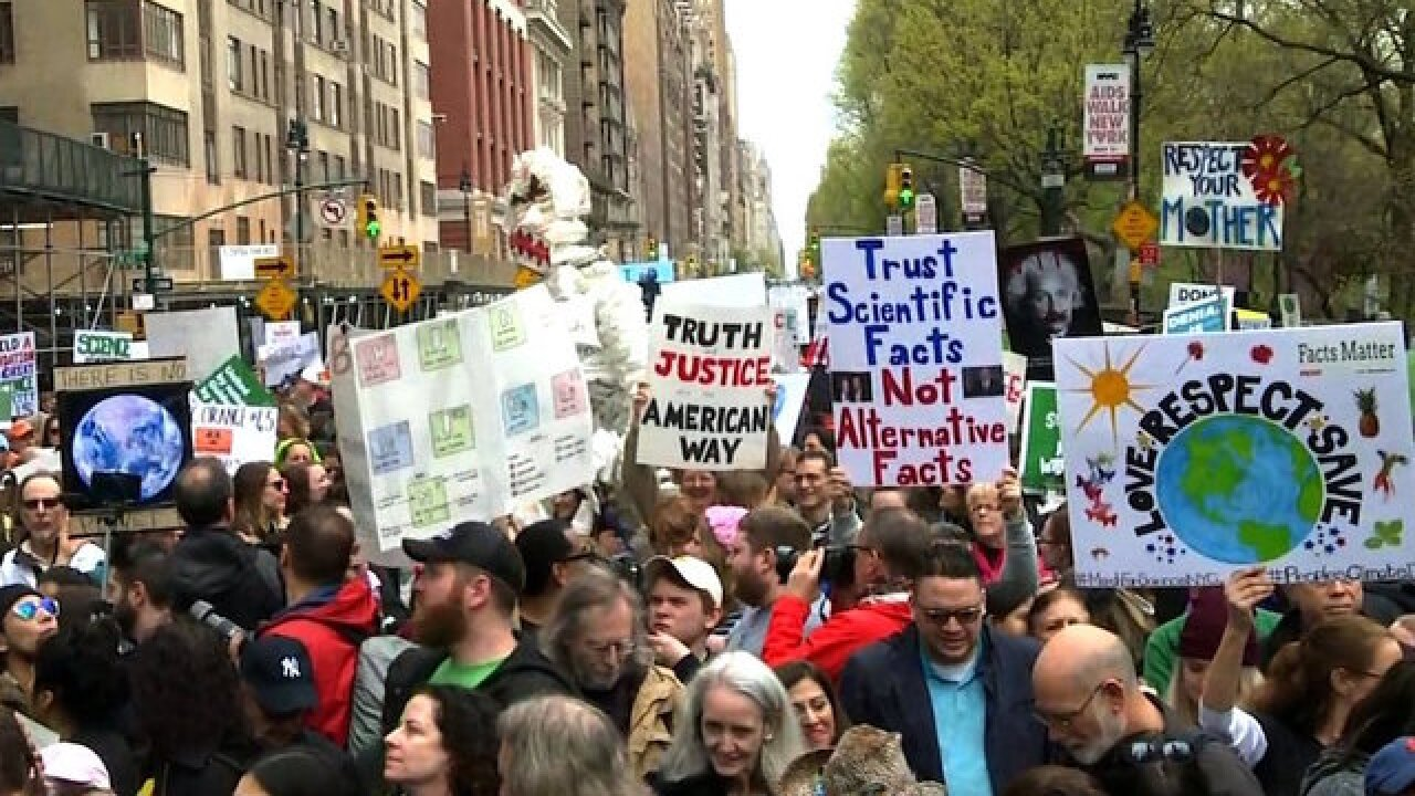 Hundreds of 'March for Science' protests held worldwide Saturday