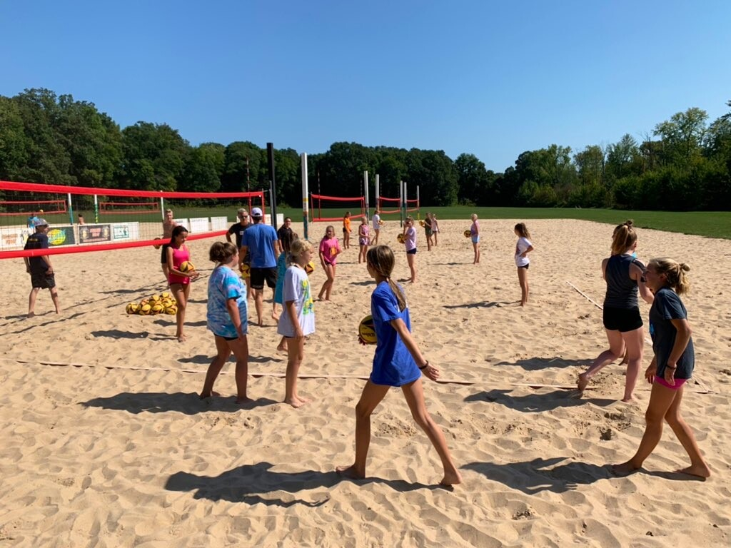 TAG Beach Volleyball holds youth clinic