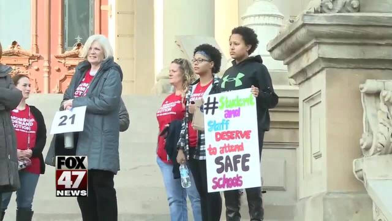 Moms at the state Capitol demanding action