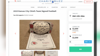 Parents hope football signed by Chiefs will help fund cure for child's rare disease