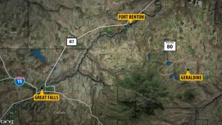 Blowing dust creates reduced visibility between Great Falls and Fort Benton