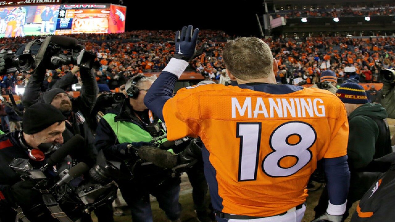 sale retailer 8ab9f a1958 School bans Peyton Manning jerseys due to No. 18