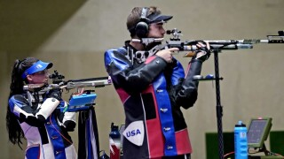 U.S. shooters take silver in new mixed team rifle event