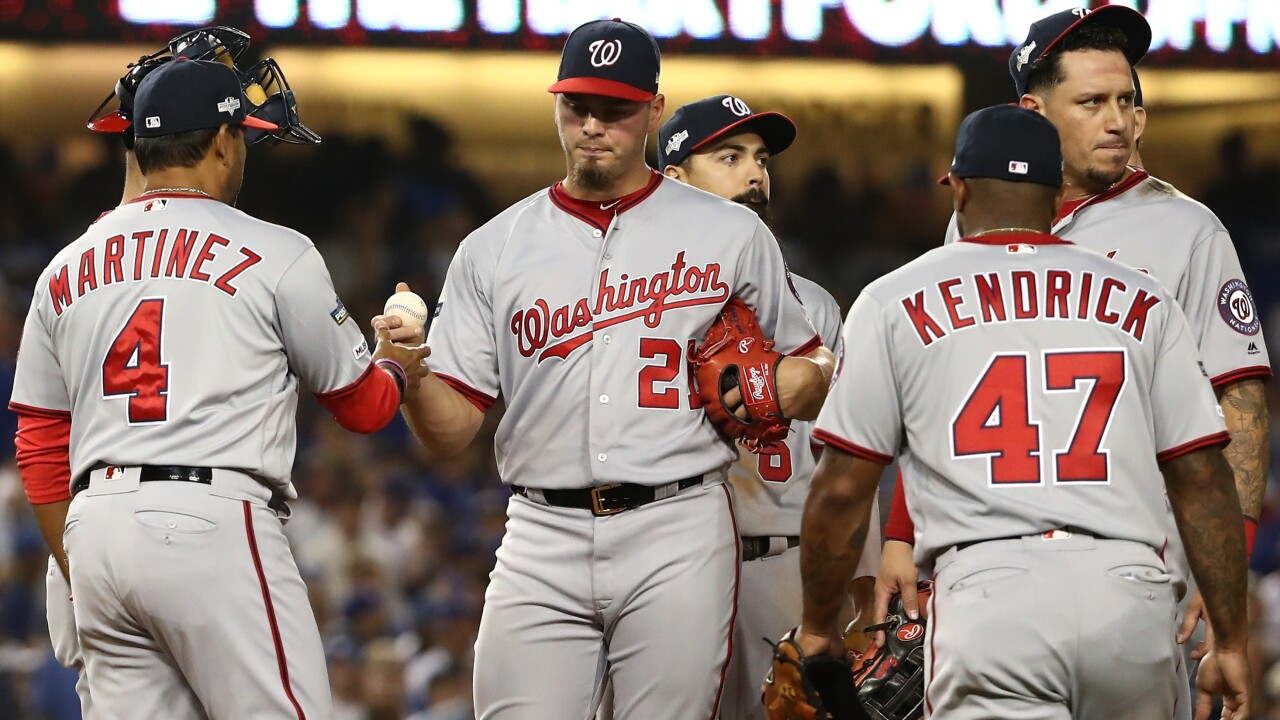 Nationals shut out by Dodgers in Game 1 of NLDS