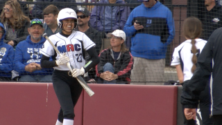 MAC's Kooper Page celebrates after solo home run