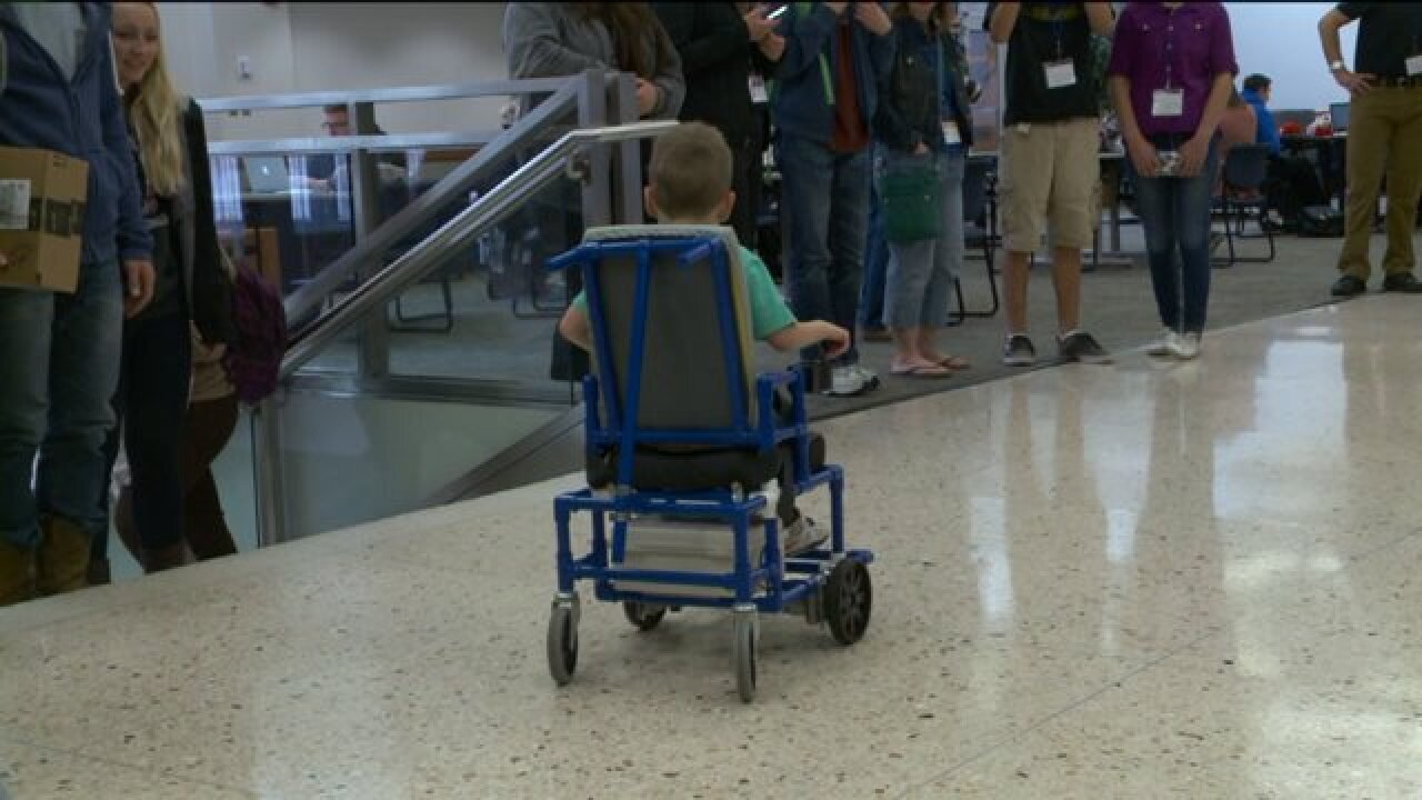 BYU students design lightweight, low-cost motorized wheelchairs to help two youngboys