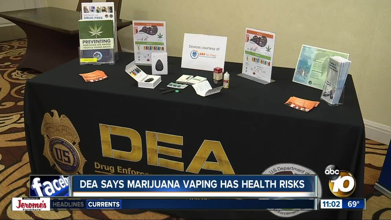 DEA says marijuana vaping has health risks