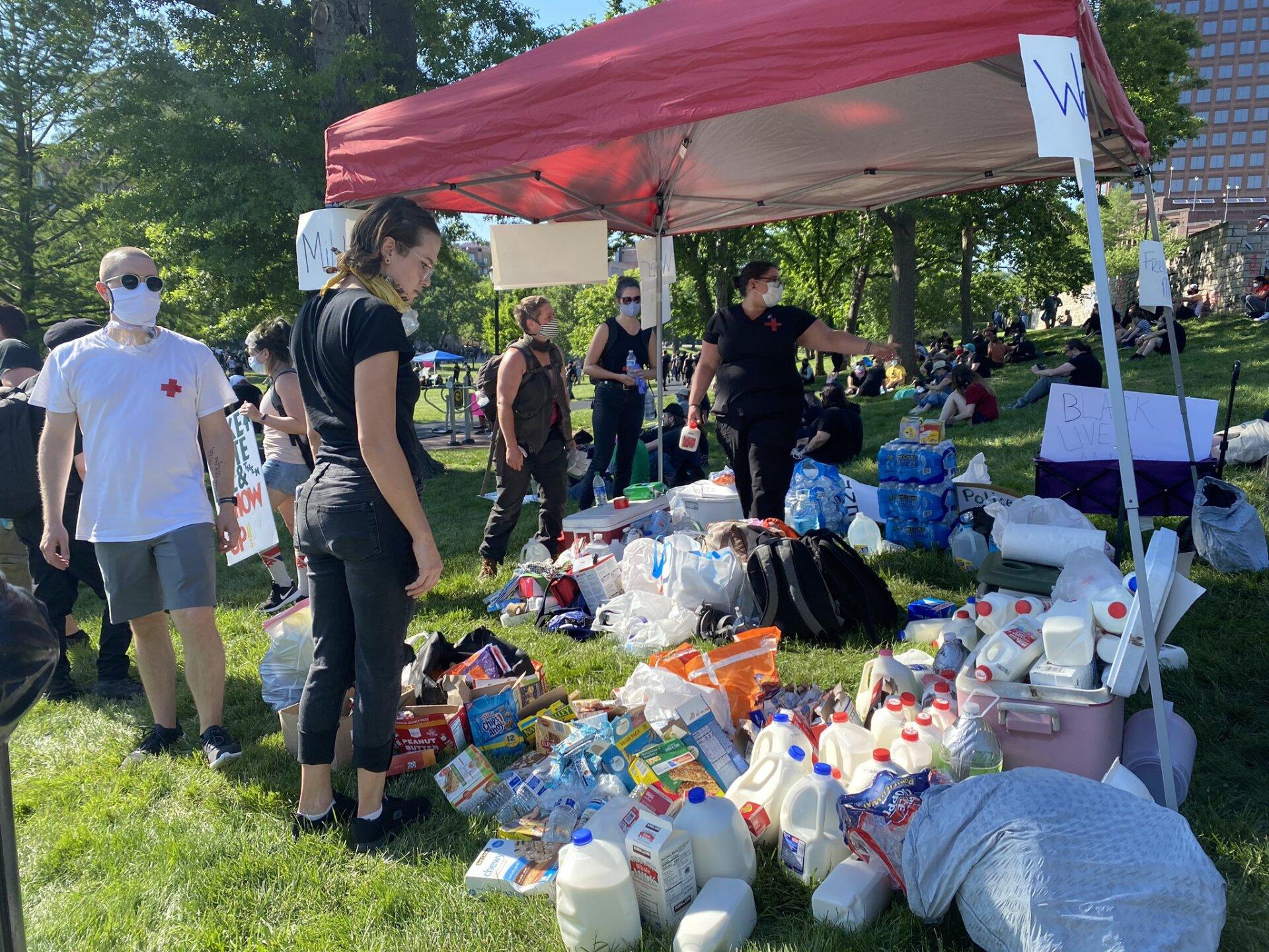 plaza protest aid station.jpg